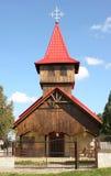 教会现代木头 库存图片