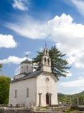 教会现场正统塞尔维亚人 库存图片