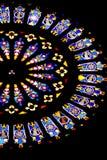 教会玻璃弄脏了 免版税库存图片