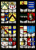 教会玻璃老被弄脏的视窗 库存图片