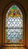 教会玻璃被弄脏的视窗 免版税图库摄影