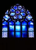 教会玻璃被弄脏的windown 库存照片