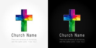 教会略写法,马赛克样式 库存照片