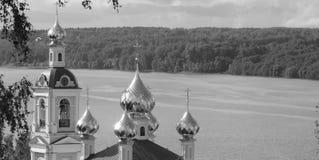 教会的全景 免版税库存图片