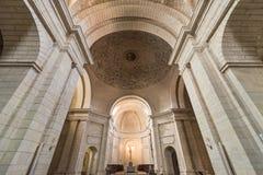 教会的内部古老monastary的圣多明哥de Silos,布尔戈斯,西班牙 免版税库存图片