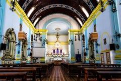 教会的内部看法 图库摄影