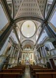 教会的内部看法 库存照片