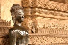 教会的古老菩萨在贺尔Phakaeo寺庙,老挝。 免版税库存照片