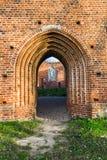 教会的哥特式废墟 库存照片