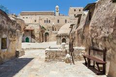 教会的埃赛俄比亚的部分在耶路撒冷 库存图片