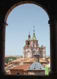 教会的屋顶 免版税库存图片