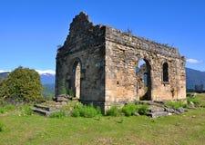 教会的废墟在Bedia大教堂附近的 阿布哈兹 免版税图库摄影