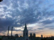 教会的美丽的景色 库存照片