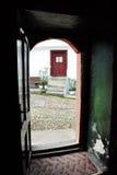 教会的被开张的门 免版税库存图片