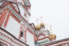 教会的装饰品突然显现 免版税库存照片