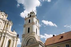 教会的钟楼 免版税图库摄影