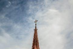教会的顶层 免版税库存照片