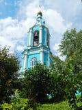教会的belltower 保佑的圣母玛丽亚(19世纪)的诞生 免版税库存图片