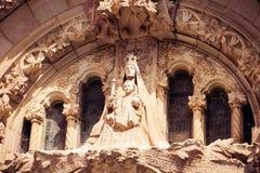 教会神圣的Heart.Tibidabo。巴塞罗那。 免版税库存图片