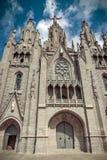 教会神圣的Heart.Tibidabo。巴塞罗那。 库存照片
