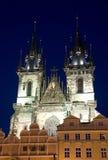 教会神母亲布拉格tyn 免版税图库摄影