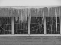 教会窗冰 免版税库存照片