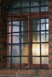 教会窗口在Vysokopetrovsky修道院里在莫斯科 图库摄影