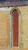教会窗口,威尼斯,意大利 库存图片