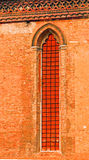 教会窗口,威尼斯,意大利 免版税图库摄影