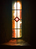 教会窗口,登上Melleray修道院,沃特福德,爱尔兰 免版税库存图片