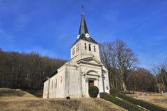 教会第一个vauquois战争世界 库存照片