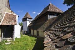 教会筑了堡垒于viscri 库存照片