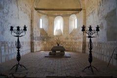 教会筑堡垒于的撒克逊人 免版税库存照片