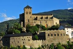 教会筑堡垒于的瑞士 库存照片