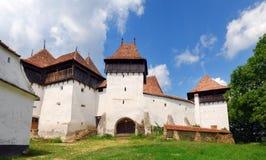 教会筑堡垒于的罗马尼亚viscri 库存照片