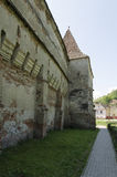 教会筑堡垒于的mosna 库存照片