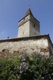 教会筑堡垒于的mosna 图库摄影