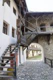 教会筑堡垒于的prejmer 库存图片