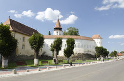 教会筑堡垒于的prejmer 免版税库存照片