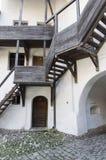 教会筑堡垒于的prejmer 免版税库存图片