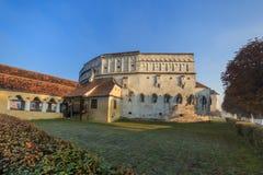 教会筑堡垒于的prejmer brasov中心城市老罗马尼亚 免版税库存照片