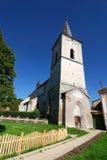 教会筑堡垒于的richis罗马尼亚transylvania 免版税库存照片