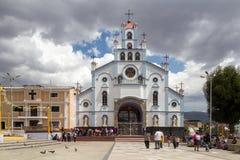 教会索莱达在瓦拉斯,秘鲁 免版税库存图片
