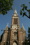 教会红色 免版税库存照片