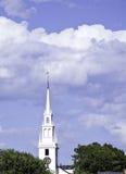 教会纽波特塔 库存照片