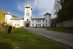 教会结构在Tismana 库存照片