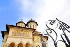 教会给天堂正统罗马尼亚人装门 库存图片