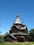 教会老俄国木 免版税库存照片
