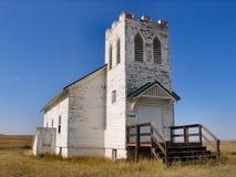 教会老农村 库存图片
