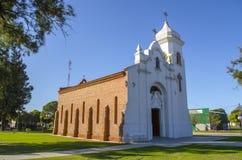 教会老农村 库存照片